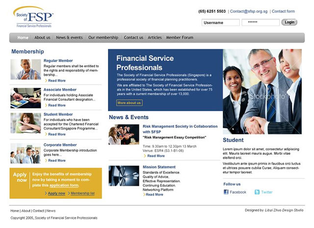 SFSP website design + Joomla! template development