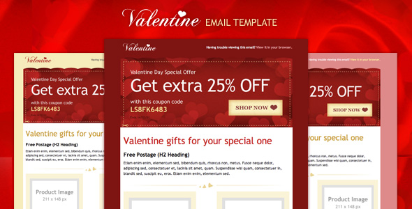 Valentine FREE Email template