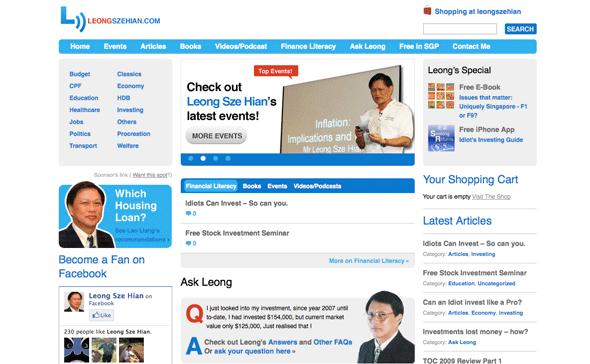 Leong Sze Hian website design and wordpress theming