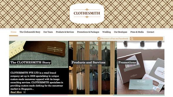 Clothesmith Web Design and WordPress Theming